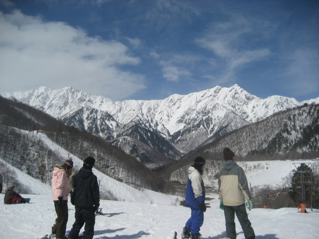 Skiing in the Japanese Alps
