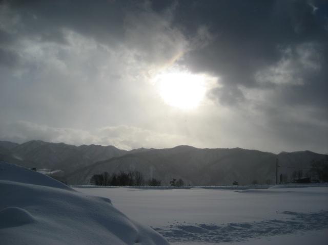Hakuba sun rise