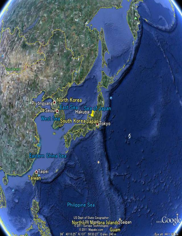 Japan google earth